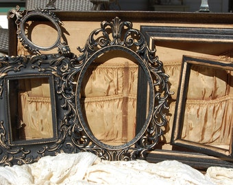 Picture Frame Set - Vintage Style Picture Frame Collection - Shabby Chic - Ornate - Gallery Frames
