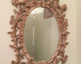 SIMPLY SHABBY CHIC Mirror White Mirror Large White Mirror, Baroque, Paris Apartment, French Provencial Hollywood Regency at Ageless Alchemy