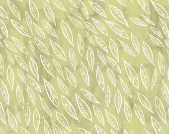 Dear Stella Fabric Fallen Leaves on Fern Quilting Crafting Sewing 100% Cotton
