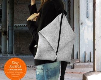 Designer Backpack woolfelt 100% Wool
