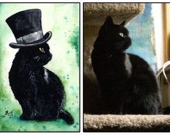 Steampunk Your Pet! Original Custom Watercolour Pet Portrait