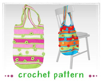 Crochet Bag - See-through Flowers - Crochet Pattern
