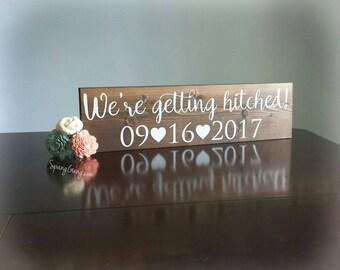 Wedding Photo Sign//Bridal Shower Gift//Save the Date Photo Prop//Wedding Name Sign//Wedding Gift//Rustic Wedding Decor//Engagement Gift