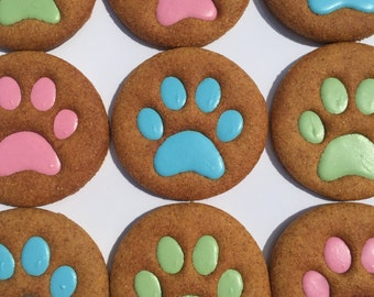 Gourmet Dog Treats - Big Paws Decorated Dog Cookies