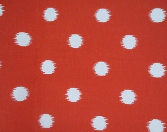 Outdoor Pillow Cover / Orange Pillow Cover / Polka Dot Print