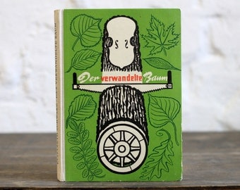 """Old Book Sketchbook Tartuensis Classic """"The Transformed Tree"""" with Dotted Paper"""