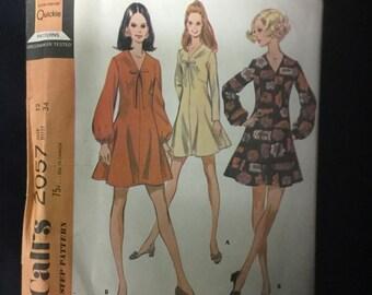 McCall's 2057 Misses Junior Dress