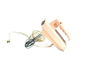 Vintage Pink Sunbeam Mixmaster Electric Hand Mixer