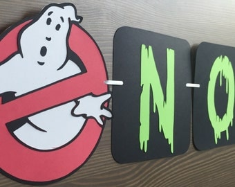 Ghostbusters Inspired Party Banner  Ghostbusters Birthday
