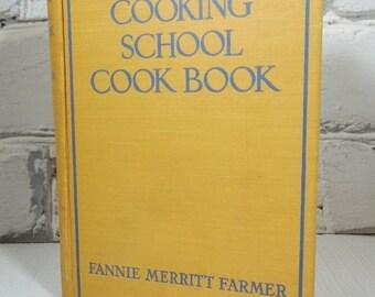 On Sale Price The Boston Cooking-School Cook Book. Vintage Hardback Edition. 1945. Fannie Merritt Farmer.