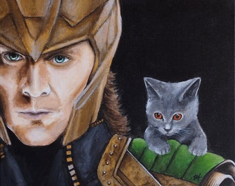 "Original Acrylic Painting - 'Loki & Belle' 40.5 x 33cm (approx. 16 x 13"") - with free delivery"