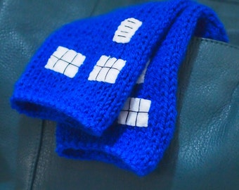 Doctor Who TARDIS Inspired Wrist Warmers
