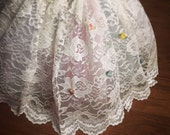 Lace Tutu with tiny rose accents