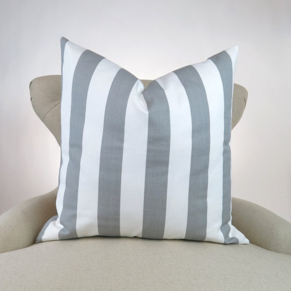 Floor Pillow Covers 25x25 : Items similar to Gray Stripe Floor Pillow Cover, Euro Sham, Decorative Cushion Cover, Canopy ...