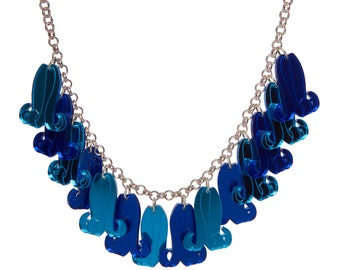 Bluebells Necklace - laser cut acrylic