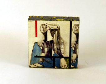 Pablo Picasso - Portrait of Sylvette David, 1954  -  Original Art with Mixed Construction Technique.
