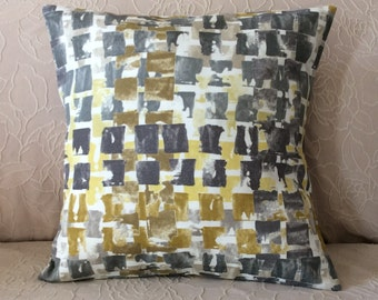 Pillow Cover - Grey,Charcoal,  Taupe, Gold, Yellow and Ivory. - Handmade Pillow cover