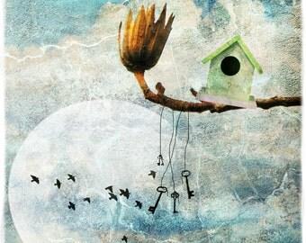 """Art color """"Nest"""" 30cm x 30cm textured paper photo"""