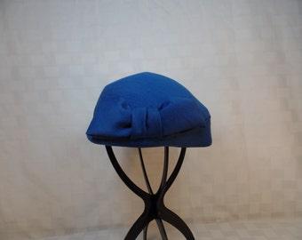 Vintage Blue Pillbox Hat
