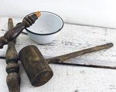 ON SALE Primitive Antique Wooden Mallet