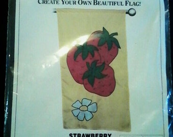 "Flag Factory Strawberry Pattern ""Brand New"""