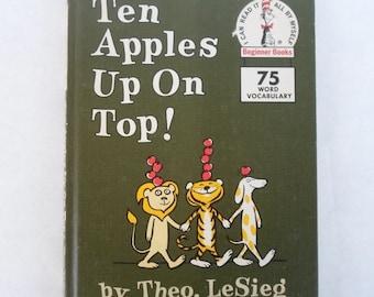 ON SALE Vintage Children's Book 1961 Ten Apples Up On Top!  Theo. LeSieg, Beginner Books, Random House. Story Hour Series