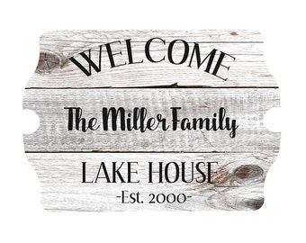 Custom House Sign - Personalized - Beach House Sign - Lake House Sign - Home Decor