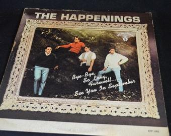 Vintage Vinyl Record The Happenings Self Titled Album BTP-1001