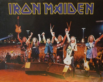 IRON MAIDEN: 1990s Tour Poster