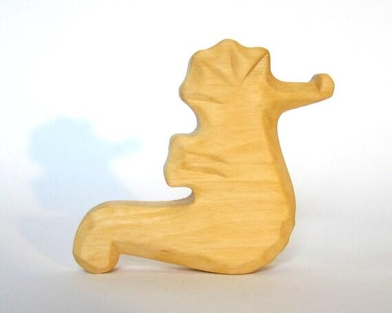 Sea Horse Sea Animals Waldorf Toy Wooden Animals by Baumstammbuch