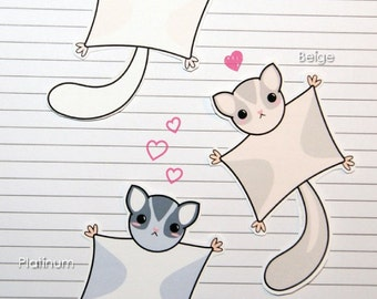 Chibi Sugar Glider Stickers and Magnets