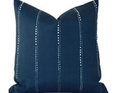Outdoor Pillows Outdoor Pillow Covers Decorative Pillows ANY SIZE Pillow Cover Blue Pillow Navy Pillow Premier Prints Outdoor Carlo Oxford