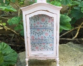 Shabby Chic/French/Cottage Curio Cabinet- Dollhouse Miniature
