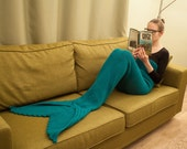Sale 50% Off Mermaid Tail Lapghan Blanket Crochet Pattern, ADULT sizes S and M -- pdf file -- INSTANT DOWNLOAD --