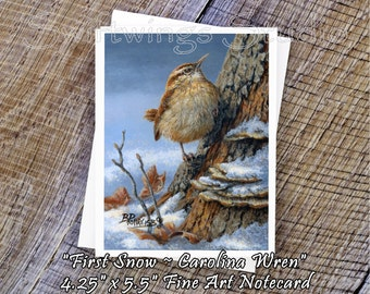 Wildlife Note Cards - Wild Bird Note Cards - Carolina Wren Note Card - Carolina Wren Painting - Bird Note Cards - Wild Bird Stationary