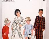 Simplicity Child's Pajama Pattern 8493-Size 1/2 to 2