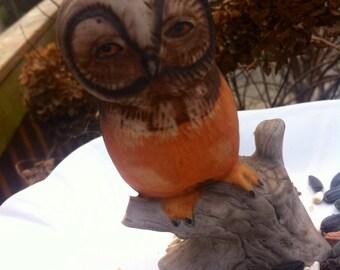 Vintage Wise Old Owl Birdbath/Birdfeeder-Fleamarket GardeningSALE
