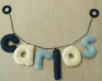 Letras en 3D a crochet