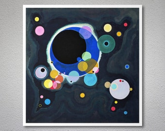 Several Circles, 1926 by  Wassily Kandinsky - Poster Paper, Sticker or Canvas Print