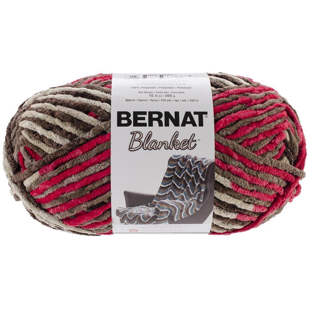 Bernat Blanket Yarn Raspberry Trifle Large Skein 300 Grams