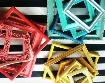 Ombre frame collection custom frame gallery your choice of color simple mix or ornate baroque