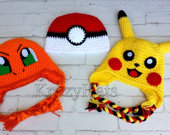 Crochet hat.Orange hat,white and red ball hat,yellow lighting hat.