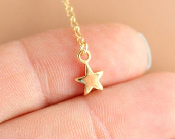 Star Necklace Women Girls Gold Filled Small Dainty Little Jewelry Lariat Y style Necklaces Gift for her