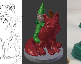 Custom 3D Printable Game Pieces / Miniture