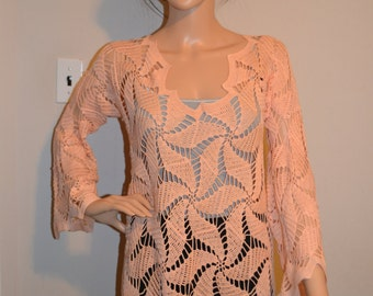 Sweet Peaches Custom Made Size Crochet Sweater Sizes 0 to 20.