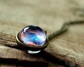 Space necklace, Nebula necklace pendant, nebula jewelry, Solar system, Nebula jewelry, Glass dome necklace, Universe necklace, outer space