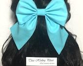Blue Ariel Cosplay Hair Bow, Little Mermaid Hair Bow, Fabric Handmade Bow, Light Blue Bow, Bow For Girls, Kawaii Bow, Ariel Bow