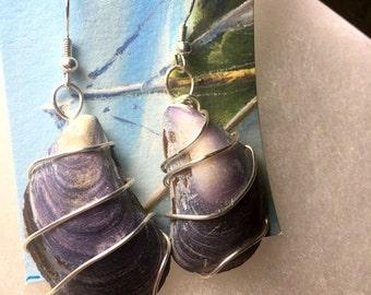 Handmade Mussel Shell Earrings