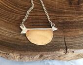 Arrow Half Moon Necklace