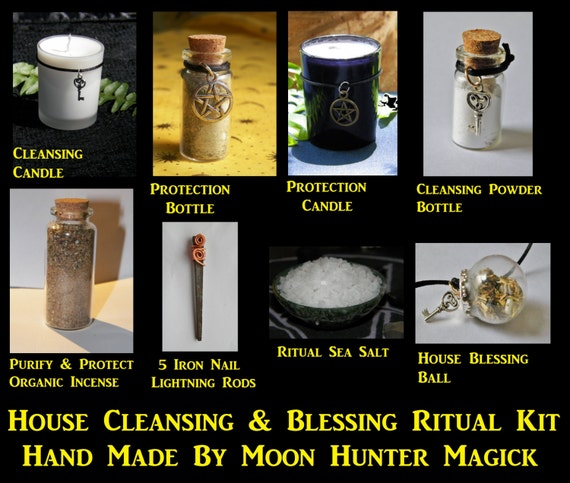 House Cleansing & Blessing Combo Kit #1 Home Blessing Ritual Kit Ward Amulet Talisman